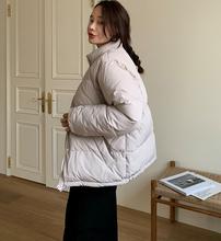 韩国代yb正品202ft女装 韩范潮流服饰 鹅绒高档宽松面包羽绒服