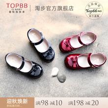 宝宝公yb鞋蝴蝶结软ft女童鞋2020春式真皮中大童洋气单鞋英伦