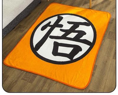 包邮七龙珠悟字动漫周边毛毯珊瑚yc12毯子单n1午休空调毯。