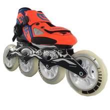 竞速速yc溜冰新品韩pjbec轮滑鞋冰刀鞋男成的大轮刀架专业爆式