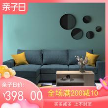 简约现yc布艺沙发(小)px厅组合可拆洗贵妃家用沙发网红式三的位