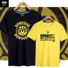 多特蒙yc足球迷周边qc年纪念短袖T恤衫男女半袖体恤运动上衣服装