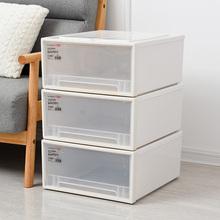 抽屉款收纳箱加ye塑料收纳柜ib物柜子宝宝衣柜婴儿玩具整理箱