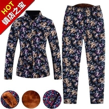 老的冬ye穿的棉衣棉ib2加厚棉袄加肥短袖冬装妈妈装男式
