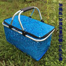 30Lye号外卖快餐hu载保温包 户外野餐 保温送餐箱 折叠购物篮