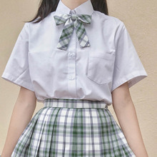 SASyeTOU莎莎ma衬衫格子裙上衣白色女士学生JK制服套装新品