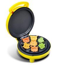 家用儿yf迷你(小)型卡zq糕机家用全自动面包机电饼铛多功能。