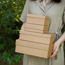 礼物包yi黑色节日天ng皮纸盒生日圣诞节正方形伴手礼