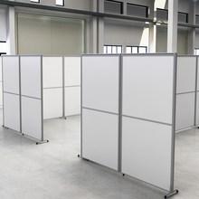 办公室yi断墙隔房间an风折叠推拉卡座活动铝合金工厂隔断定制