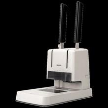 得力3yi81凭证装da务会计记帐票据手动(小)型简易打孔机全自动A4