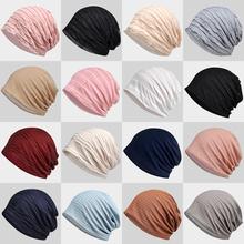 春夏镂yi透气套头帽ao巾帽薄式棉质月子帽睡帽户外休闲包头帽