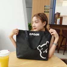 帆布包yj单肩时尚休bw拉链买菜环保购物袋手提帆布袋学生书包