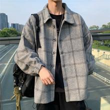[yk51]日系春秋季新款毛呢格子风
