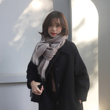 黑色大yl胡楚靓(小)个if2021流行赫本风中长式过膝毛呢外套学生