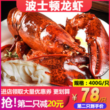 加拿大yl口波士顿龙oq特大(小)澳洲龙虾海鲜水产新货400g包邮