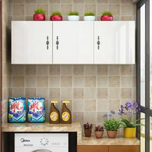 实木新yn厨房挂柜顶wl墙壁柜卫生间收纳柜阳台储物柜组装