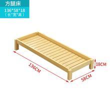 实木头yn用宝宝午睡wl班单的叠叠床加厚幼儿(小)床定制