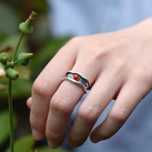 旧无双。纯银饰品泰国老银匠复古yn12民族女wt戒指环食指戒