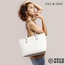 LILyo&iaI包包女2020新式真皮购物袋 托特包单肩手提包妈咪包女