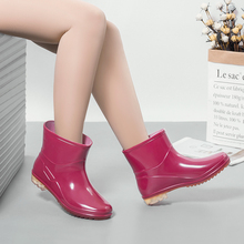 [yomt]农源防水鞋女士雨靴中短筒