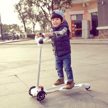 儿童蛙款yo板车闪光四ng车2-10岁摇摆车男女滑滑车宝宝溜溜车
