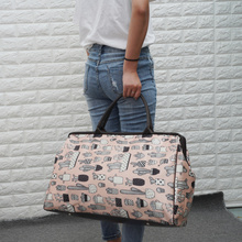 韩款大yo量单肩简约pg手提袋可包行李包女旅游包男