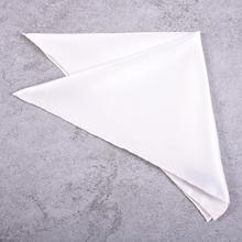 外贸出yo英伦男士西ji口袋巾手帕 正装胸巾 装饰方巾白色001
