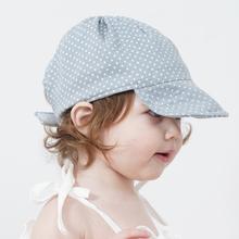 韩国进yo夏季薄式鸭ji-3-6-12个月男女宝宝胎帽遮阳帽
