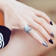 楚乔传yo丽颖同式个ji食指戒指女网红复古潮的装饰指环开口戒