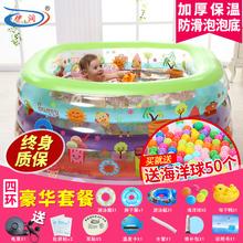 伊润婴儿游yo池新生儿充ji幼儿儿童宝宝大游泳桶加厚家用折叠