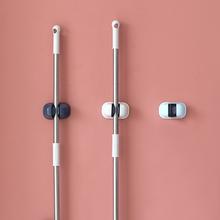 拖把挂yo家用强力免bo痕扫把架浴室卫生间墙壁挂钩神器