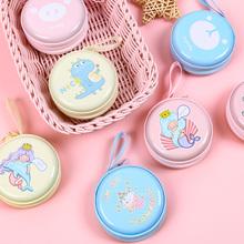 可爱迷yo零钱包女硬bo耳机包随身便携(小)巧礼品圆形简约收纳盒