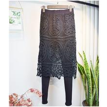 蕾丝连yo裙女大码高rf色显瘦带裙子的裤子外穿假两件打底裙裤