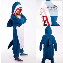 秋冬季yp通动物大鲨jc睡衣情侣男女宝宝亲子家居服演出服长袖