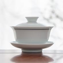 永利汇 yp德镇手绘青wj瓷盖碗三才茶碗功夫茶杯泡茶器茶具杯
