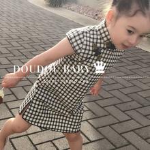 夏季儿yq旗袍唐装 jc子旗袍宝宝旗袍连衣裙旗袍亲子装母女装