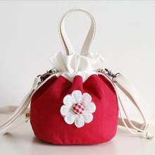 202yq新式 潮流pb挎布包女包文艺水桶包(小)复古抽绳化妆收纳包