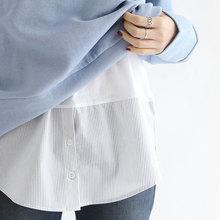 202yq韩国女装纯wm层次打造无袖圆领春夏秋冬衬衫背心上衣条纹