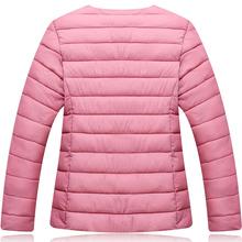 中年女yr中老年大码kg穿轻薄式羽绒棉服棉袄棉衣内胆女短式