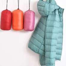超溥2yr18修身短wq式�`蒲博簿羽绒服轻薄式(小)式外套女冬季韩款