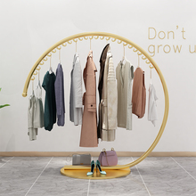 欧式铁yr落地挂衣服wq挂衣架室内简约时尚服装店展示架