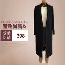 19新ys口韩国女装gs身西服领中长式双面手缝羊绒大衣毛呢外套