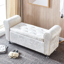 门口换ys凳欧式床尾wt店沙发凳多功能收纳凳试衣间凳子
