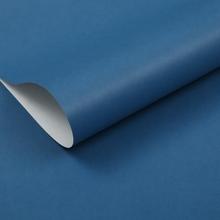 深蓝色纯色无纺布墙纸 卧
