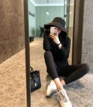 21春yuins超火ai鱼皮打底九分紧身健美黑色无痕外穿女