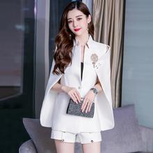 英伦风yu篷披肩外套ai021新式韩款网红大码显瘦披风休闲(小)西装