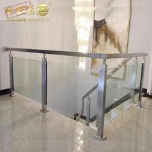玻璃楼yu扶手 30ai家用护栏不锈钢立柱栏杆工程实心围栏