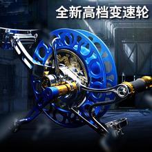 新式三yu变速风筝轮ei速调速防倒转专业高档背带轮