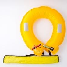 钓鱼腰yv式自动钓鱼de携救生圈专业垂钓大浮力成的