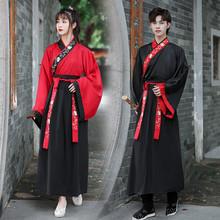 中国风yv码男装古装kl雅男魏晋交领大袖衫襦裙二件套班服